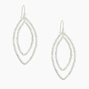 Stella & Dot Elina Drop Earrings in Silver